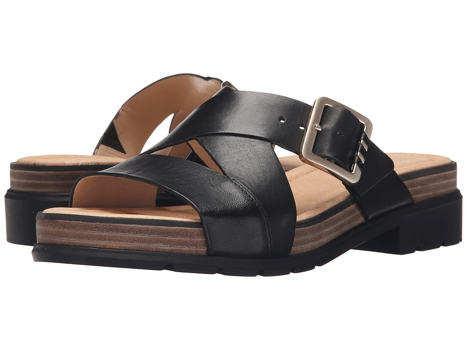 Dr. Scholls Hellena Original Collection Black/Black Bottom Womens Sandals