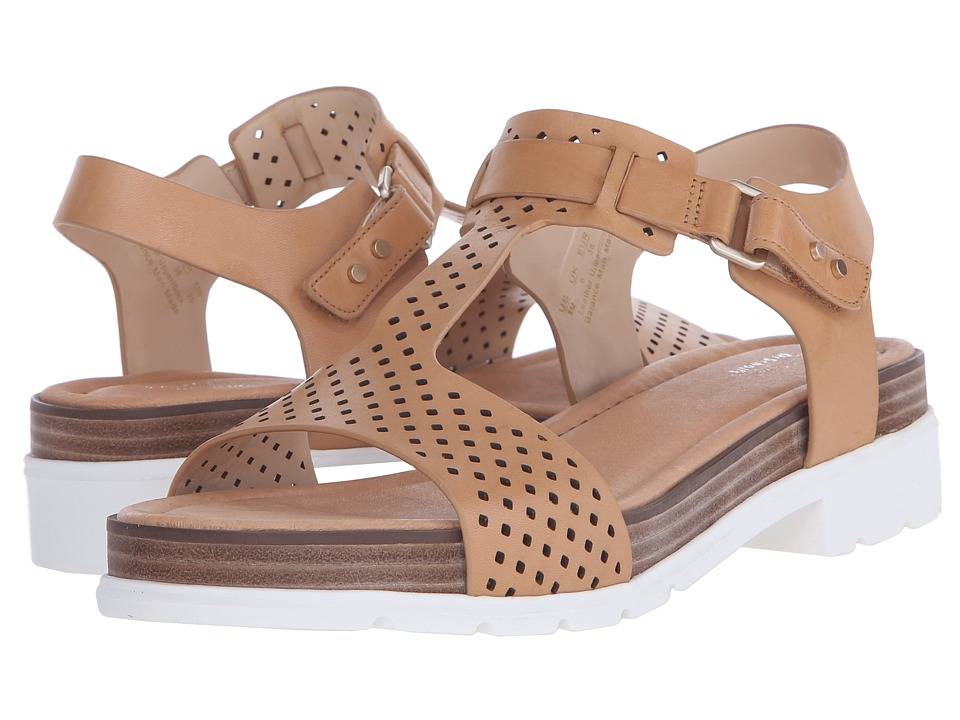 Dr. Scholls Hinda Original Collection Sienna Tan Perf/White Bottom Womens Sandals