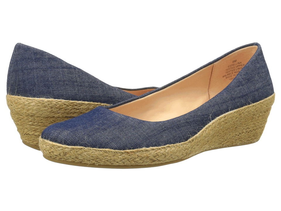 Easy Spirit Dellina Dark Blue Fabric Womens Shoes