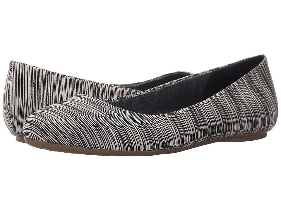 Dr. Scholls Really Black Harmony Stripe Womens Flat Shoes
