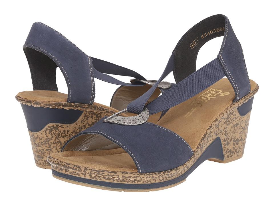 Rieker 60662 Roberta 62 Lake/Denim Womens Sandals