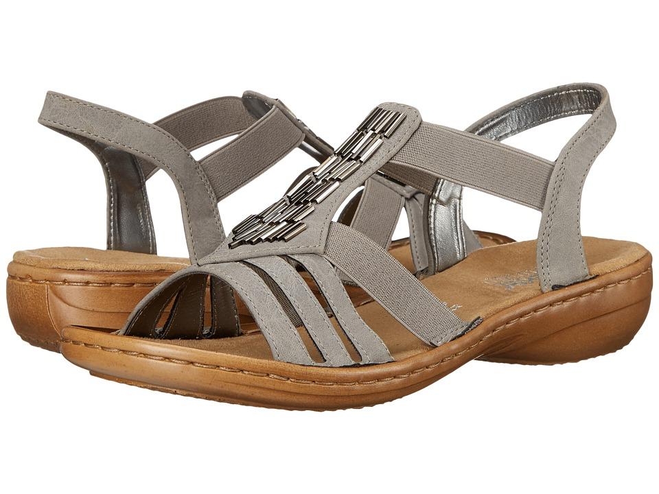 Rieker 60800 Regina 00 Staub Womens Sandals