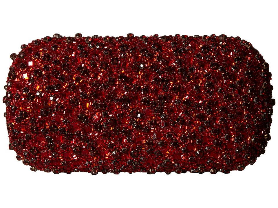 Alice Olivia Crystals Large Clutch Red Clutch Handbags