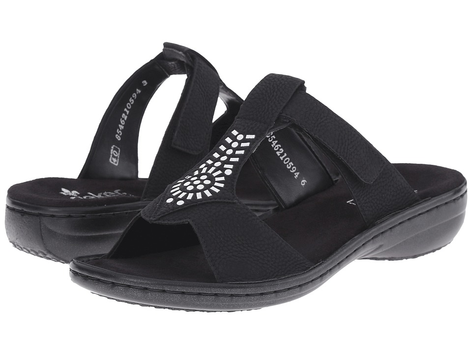Rieker 60896 Regina 96 Black Womens Sandals