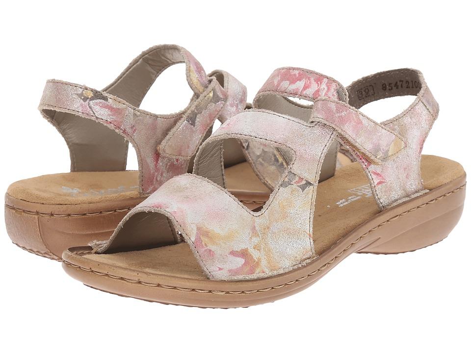 Rieker 608B1 Regina B1 Multi Womens Sandals