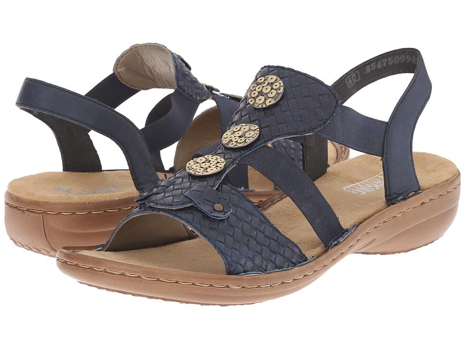 Rieker 608B4 Regina B4 Ocean/Royal Womens Sandals