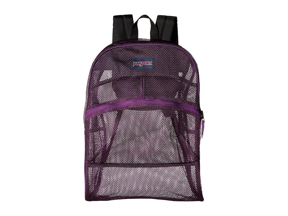 JanSport Mesh Pack Vivid Purple Backpack Bags