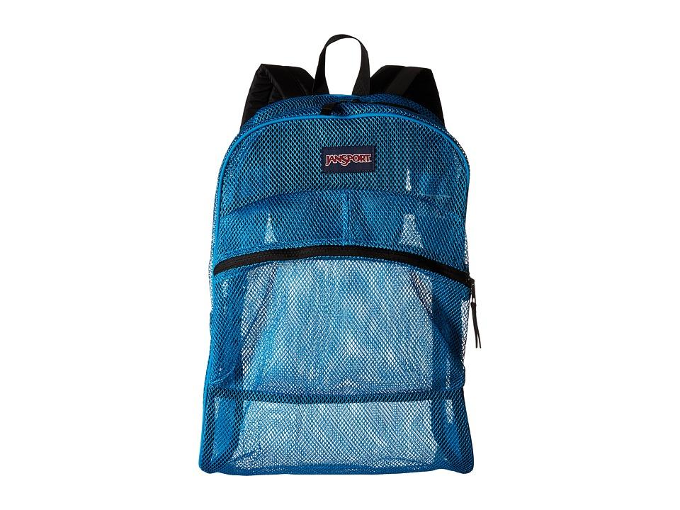 JanSport Mesh Pack Blue Crest Backpack Bags