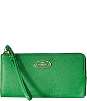 COACH - Refined Grain Leather Zipper Zip Wallet