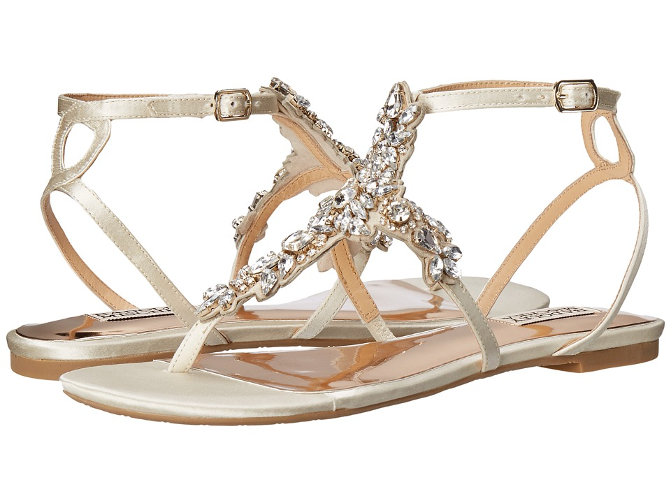 Badgley Mischka - Cara (Ivory Satin) Women's Sandals