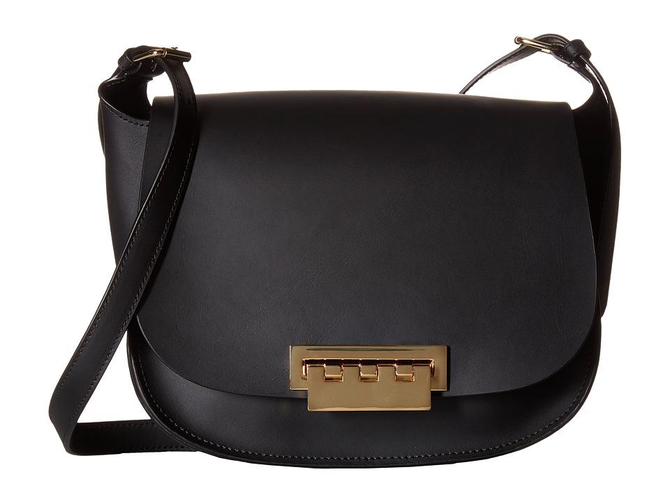 ZAC Zac Posen - Eartha Iconic Saddle (Black) Cross Body Handbags