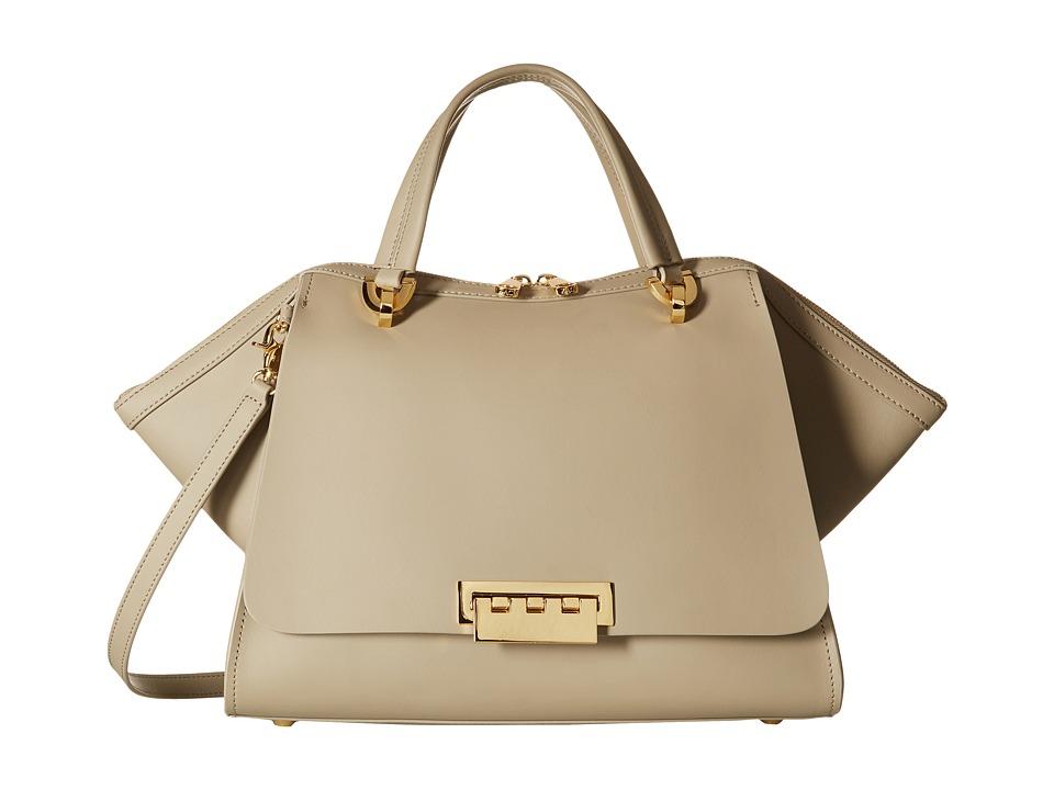ZAC Zac Posen - Eartha Iconic Jumbo Double Handle (Beige) Satchel Handbags