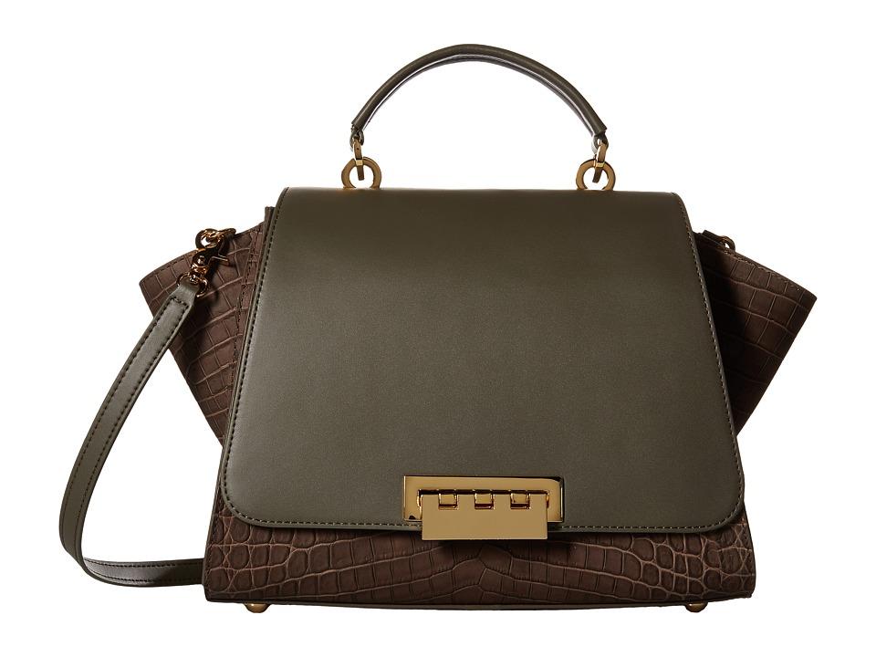 ZAC Zac Posen - Eartha Iconic Soft Top-Handle (Olive) Top-handle Handbags