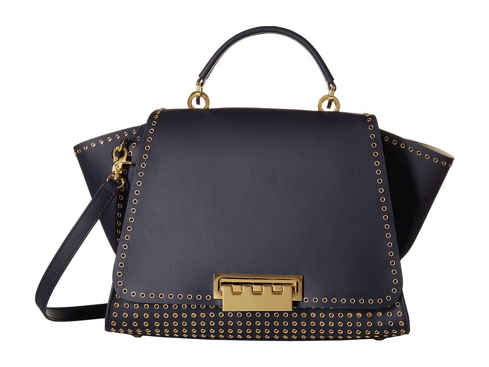 ZAC Zac Posen - Eartha Iconic Soft Top-Handle (Navy) Top-handle Handbags