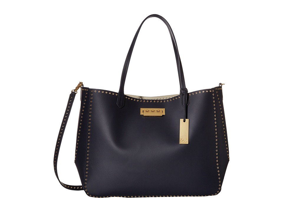 ZAC Zac Posen - Eartha Iconic Signature Shopper (Navy) Handbags