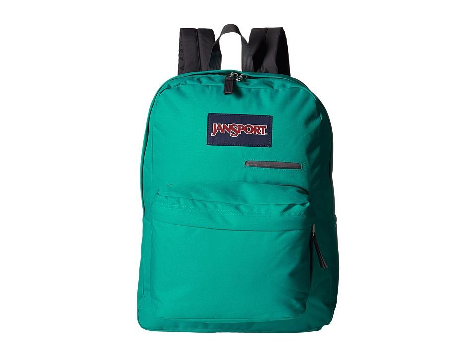 JanSport Digibreak Spanish Teal Backpack Bags