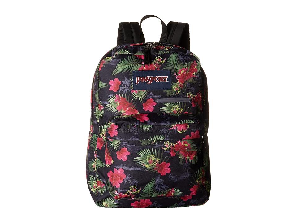 JanSport Digibreak Multi Hot Tropic Backpack Bags