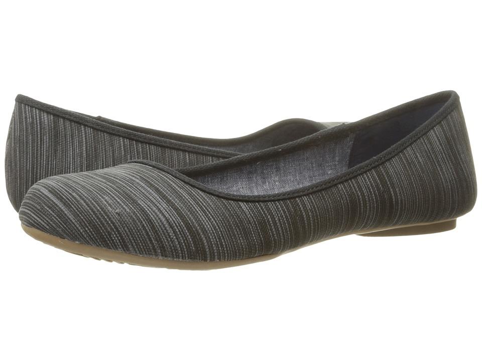 Dr. Scholls Friendly Black Harmony Stripe Womens Flat Shoes