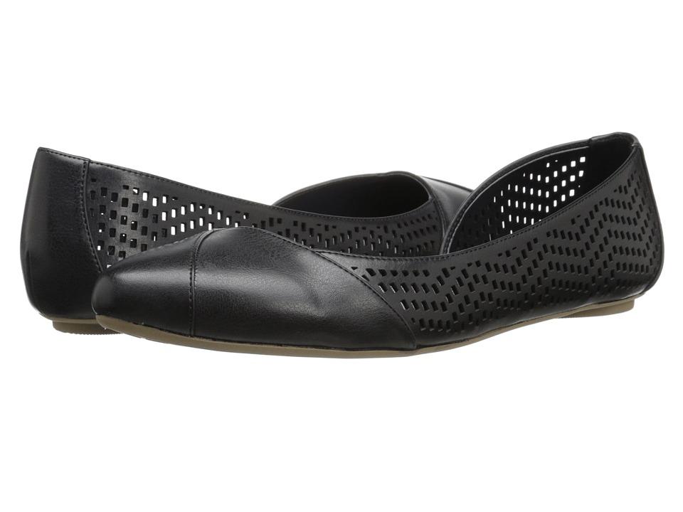 Dr. Scholls Reena Black Chop Out Womens Slip on Shoes