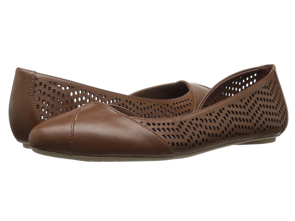 Dr. Scholls Reena Dark Saddle Chop Out Womens Slip on Shoes