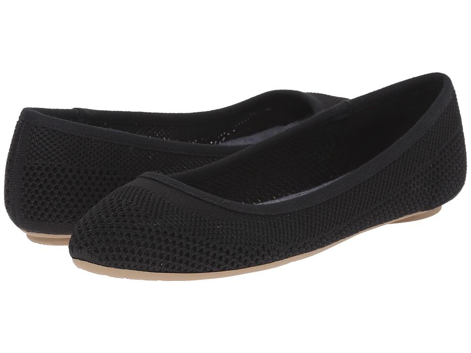Dr. Scholls Refreshment Black Knit Mesh Womens Slip on Shoes
