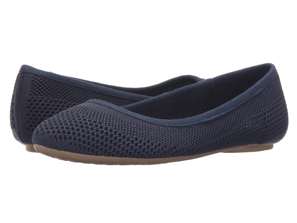 Dr. Scholls Refreshment Elegant Navy Knit Mesh Womens Slip on Shoes