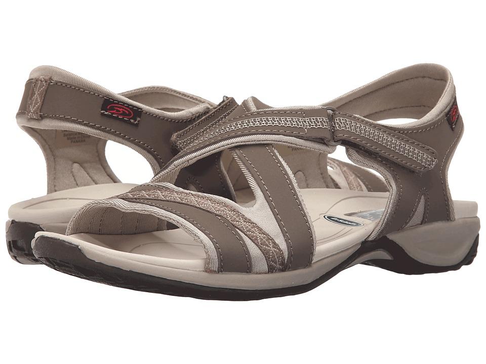 Dr. Scholls Panama Malt Taupe/Frappe Leather Womens Sandals