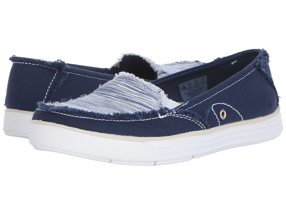 Dr. Scholls Waverly Navy Canvas/Harmony Womens Lace up casual Shoes