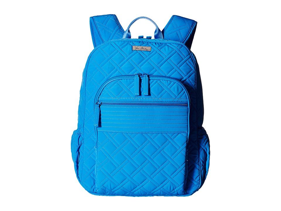 Vera Bradley Campus Backpack Coastal Blue Backpack Bags