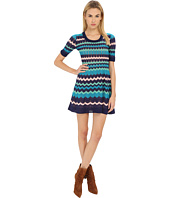 M Missoni - Color Block 3/4 Sleeve Dress
