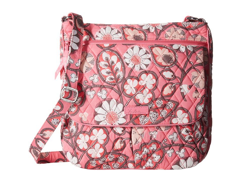 Vera Bradley Double Zip Mailbag Blush Pink Cross Body Handbags