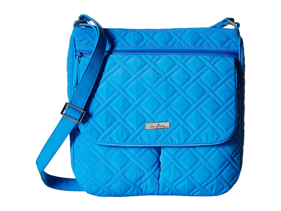 Vera Bradley Double Zip Mailbag Coastal Blue Cross Body Handbags