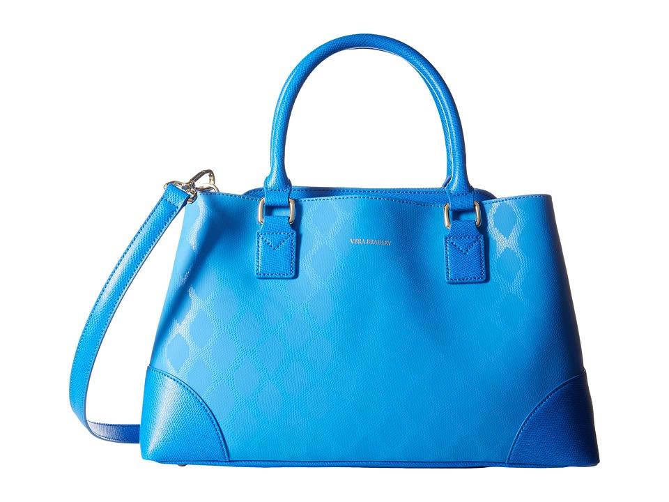 Vera Bradley Emma Satchel Ikat Diamonds Blue Satchel Handbags