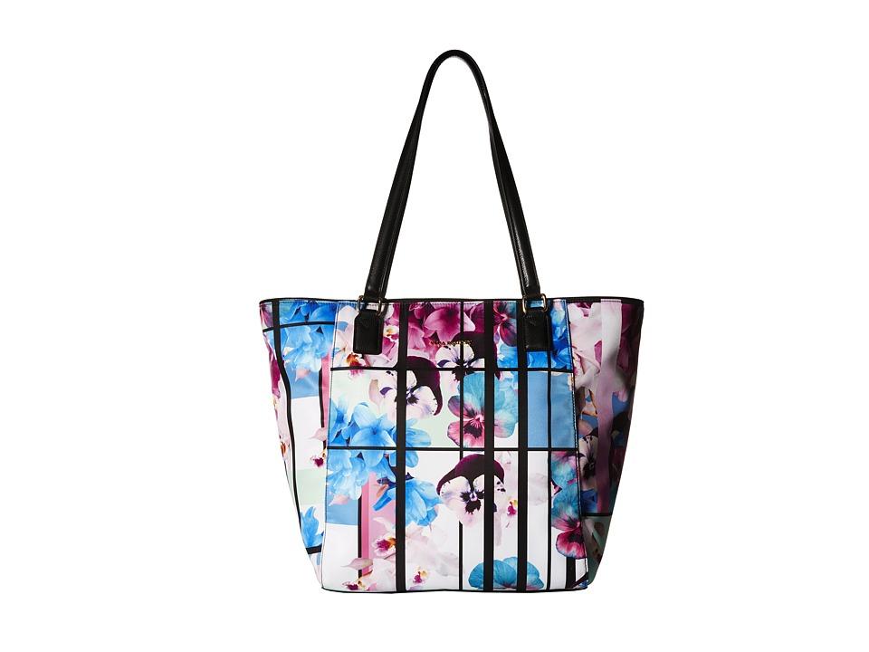 Vera Bradley Ella Tote Exotic Floral/Black Tote Handbags