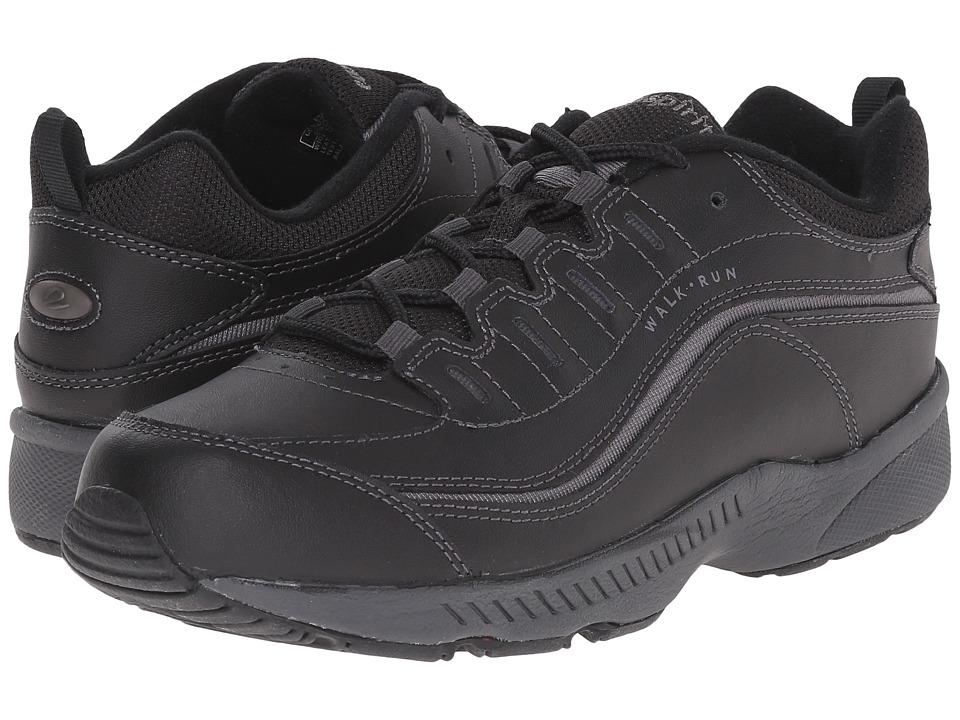 Easy Spirit Romy (Black Leather) Women's Walking Shoes