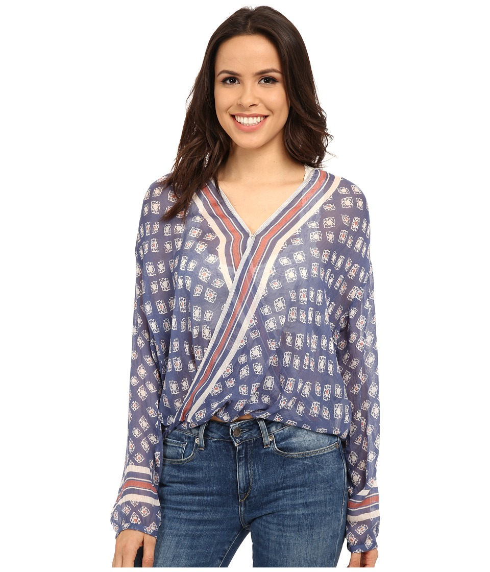 Free People Before Dawn Top Sapphire Combo Womens Clothing