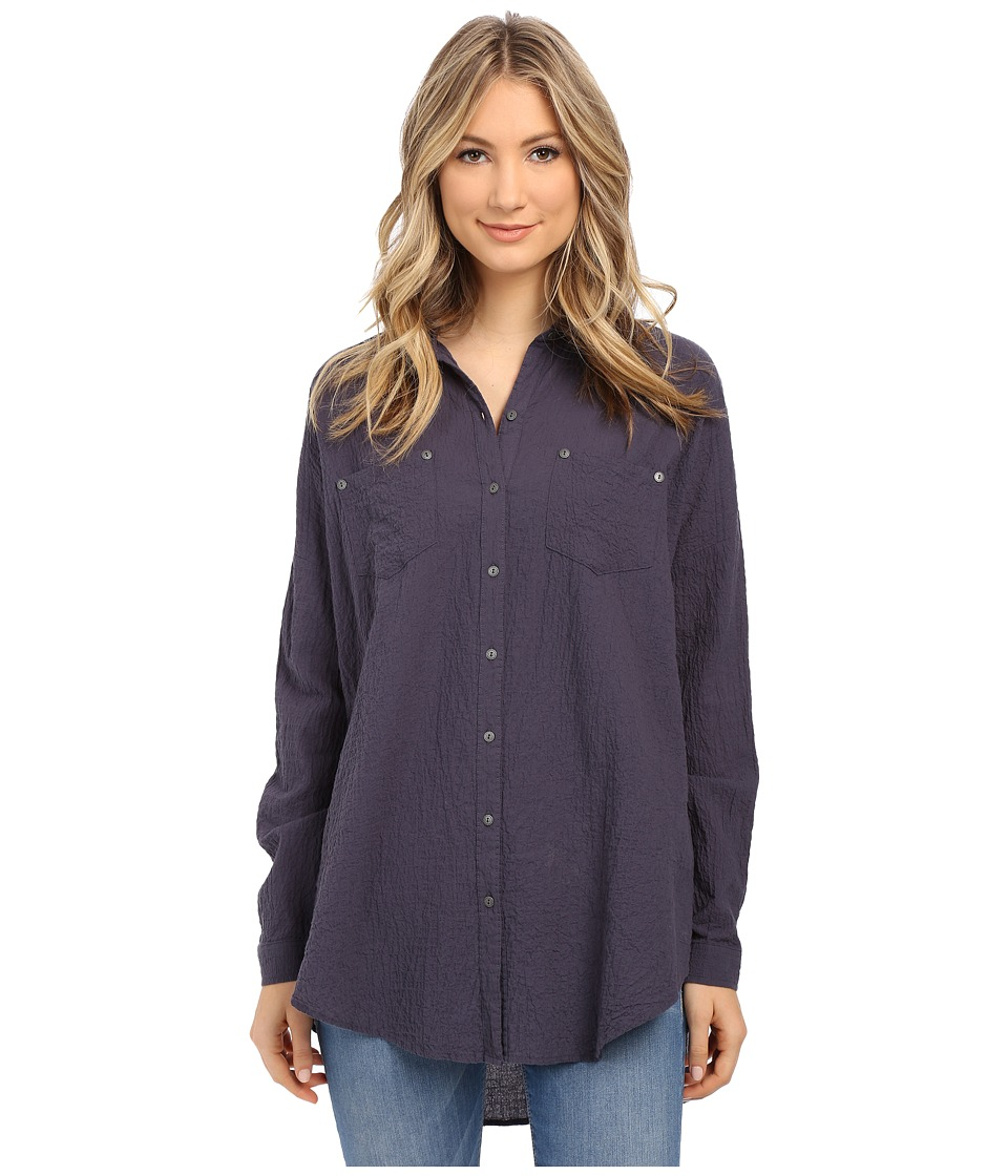 Free People Lover Her Madly Button Down Shirt Night Sky Womens Long Sleeve Button Up