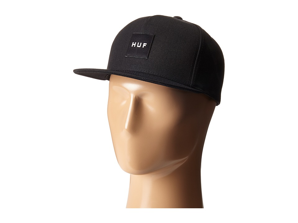 HUF Box Logo Snapback Black 2 Caps