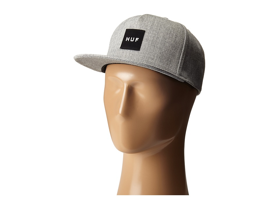HUF Box Logo Snapback Charcoal Caps