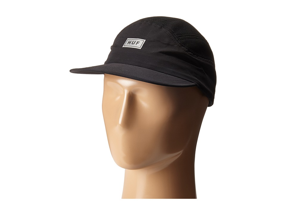 HUF Bar Logo 7 Panel Black Caps