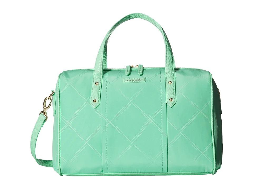 Vera Bradley Preppy Poly Marlo Satchel Mint Satchel Handbags