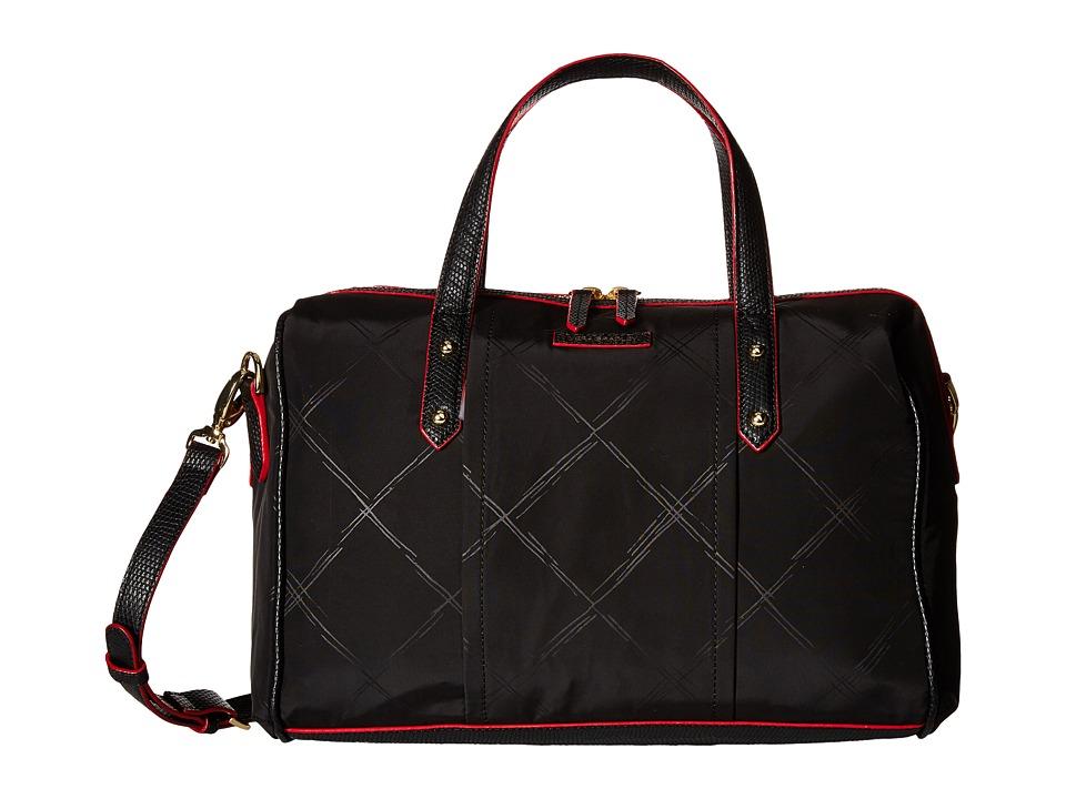Vera Bradley Preppy Poly Marlo Satchel Black Satchel Handbags