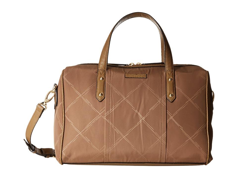 Vera Bradley Preppy Poly Marlo Satchel Toast Satchel Handbags