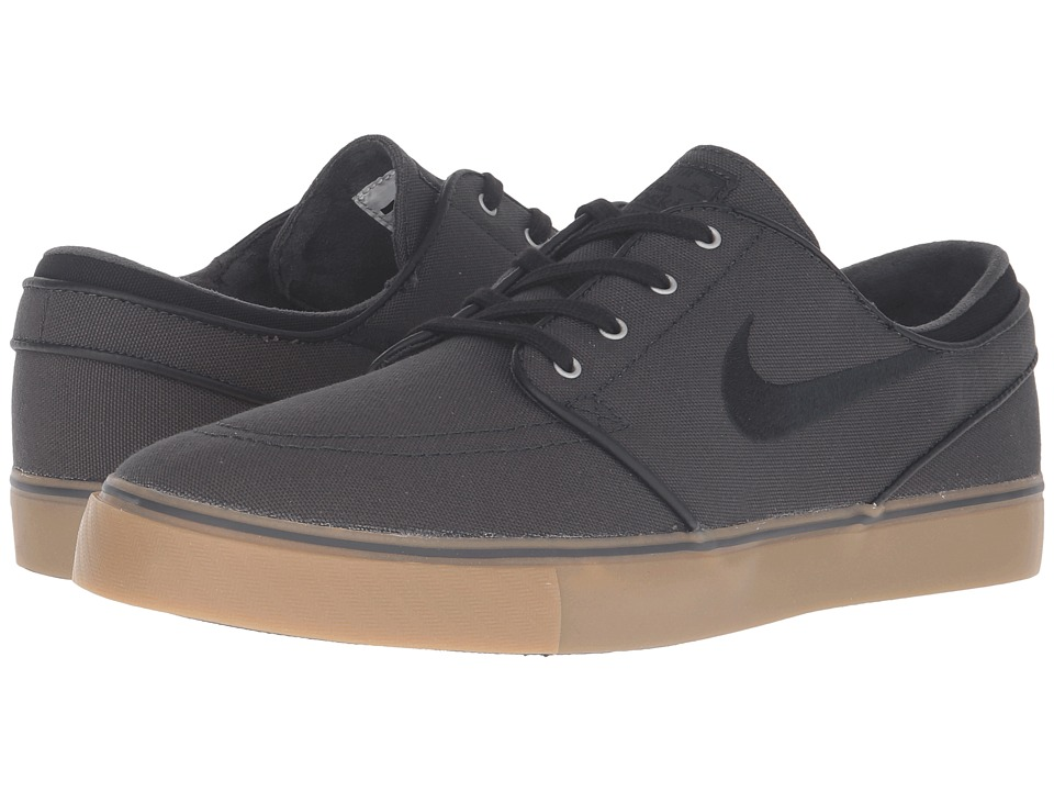 Nike SB - Zoom Stefan Janoski Canvas (Anthracite/Black/Gum Medium Brown/Metallic Gold) Mens Skate Shoes