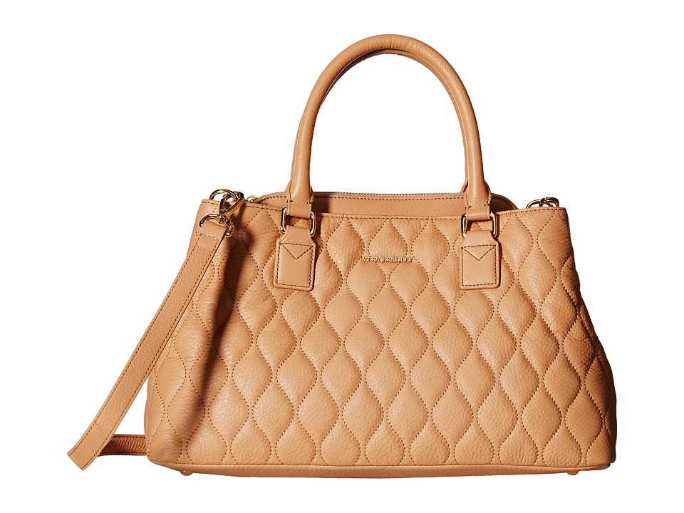 Vera Bradley Quilted Emma Satchel Nude Satchel Handbags
