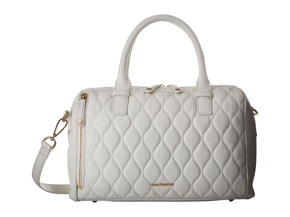 Vera Bradley Quilted Marlo Satchel White Satchel Handbags