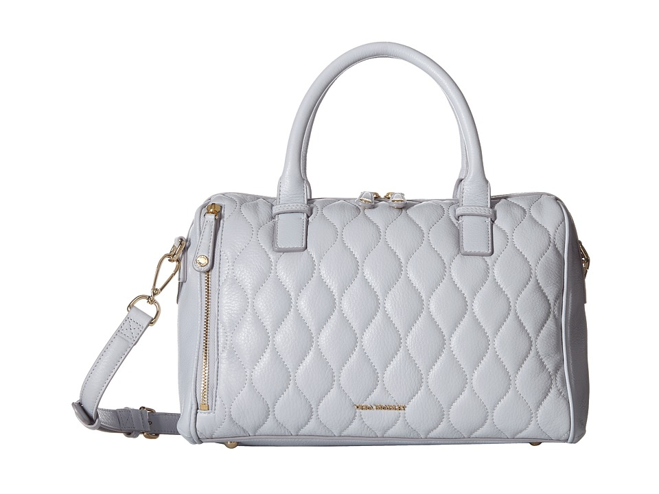 Vera Bradley Quilted Marlo Satchel Cloud Gray Satchel Handbags