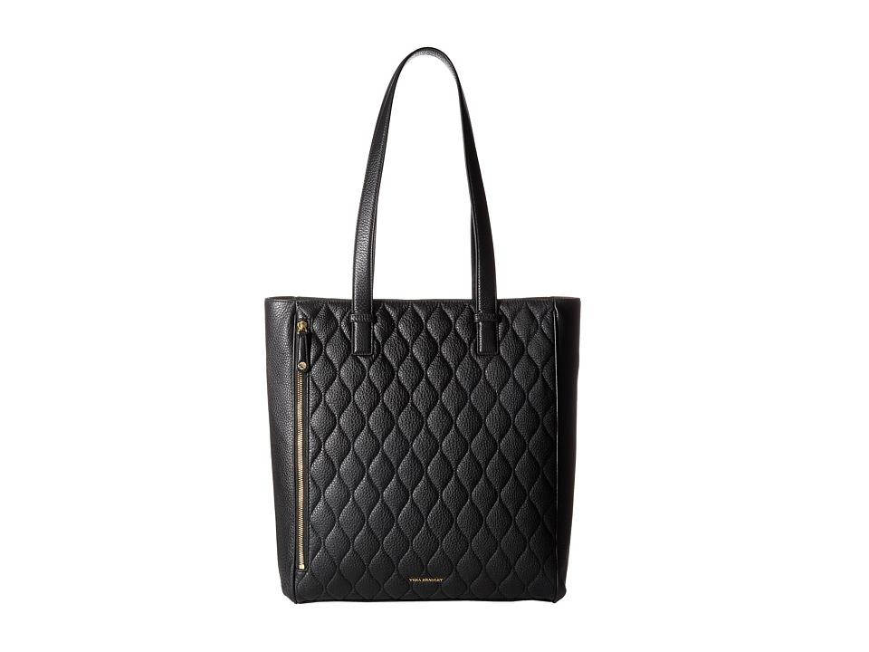 Vera Bradley Quilted Leah Tote Black Tote Handbags