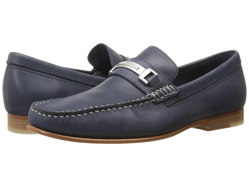 Calvin Klein - Bruce (Dark Navy Washed Leather) Men