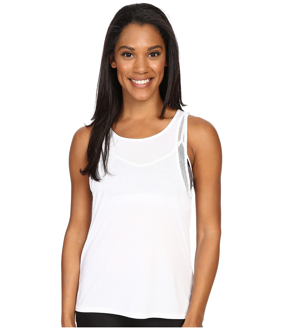 ALO Sunshade Tank Top White/White Womens Sleeveless